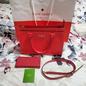 Authentic Kate spade bag and wallet set